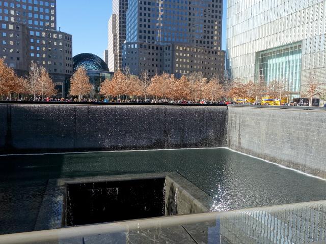 Memorial 9/11 in sunny day